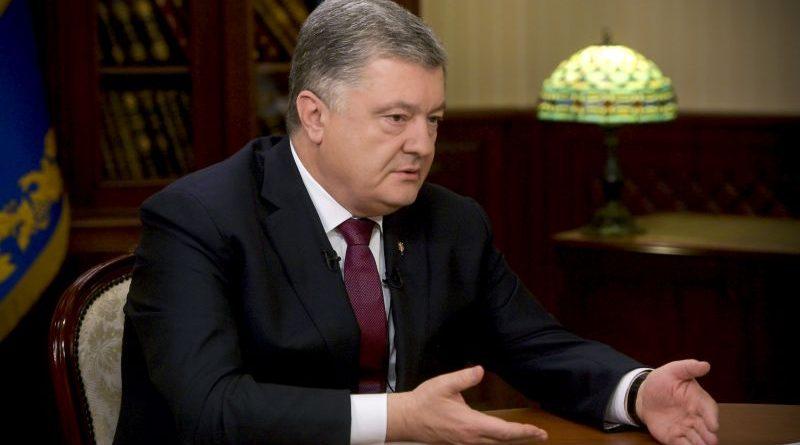 Петро Порошенко дав інтерв'ю українським телеканалам «Україна», Інтер та ICTV (фото, відео)