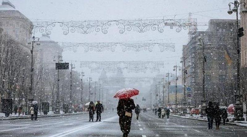 14 листопада у столиці очікується мокрий сніг – Укргідрометцентр