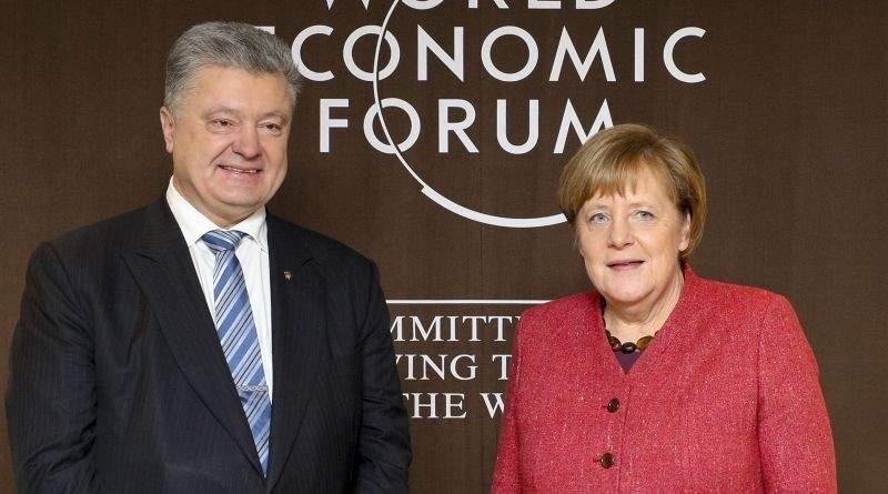 Петро Порошенко у Давосі: зустріч з Федеральним канцлером ФРН Ангелою Меркель (фото)