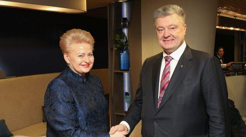 Президент у Давосі: Зустріч із Президентом Литви Далєю Грібаускайтє (фото)