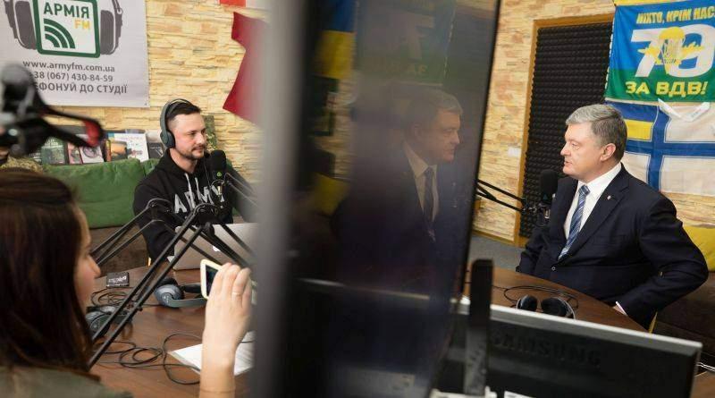 Петро Порошенко у студії військового радіо «Армія FM» відповів на запитання слухачів (фото, відео)
