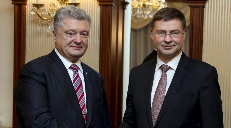 Президент України зустрівся з Віце-президентом Європейської Комісії Валдісом Домбровскісом (фото)