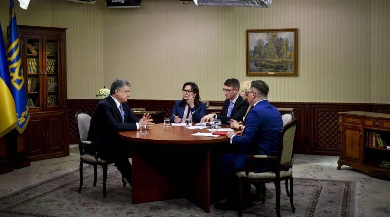 Президент Петро Порошенко дав інтерв'ю українським телеканалам (фото, відео)
