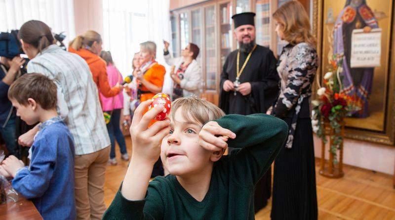 Марина Порошенко, Митрополит Епіфаній на акції для дітей з інвалідністю «Зроби великодню писанку з молитвою»