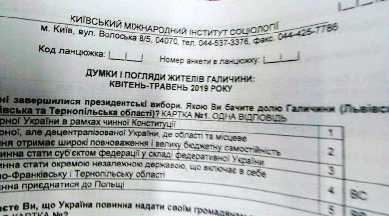 СБУ перевірить, хто запустив опитування про від'єднання Галичини