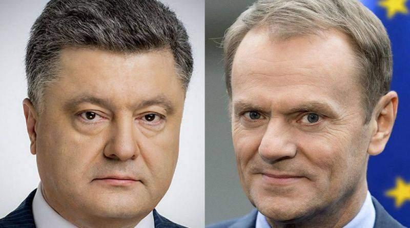Петро Порошенко провів телефонну розмову з Президентом Європейської Ради Дональдом Туском