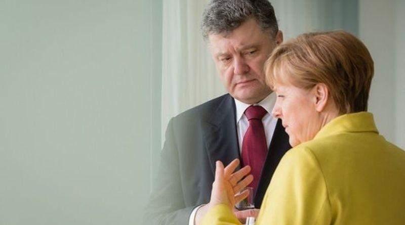 Петро Порошенко провів телефонну розмову з Ангелою Меркель