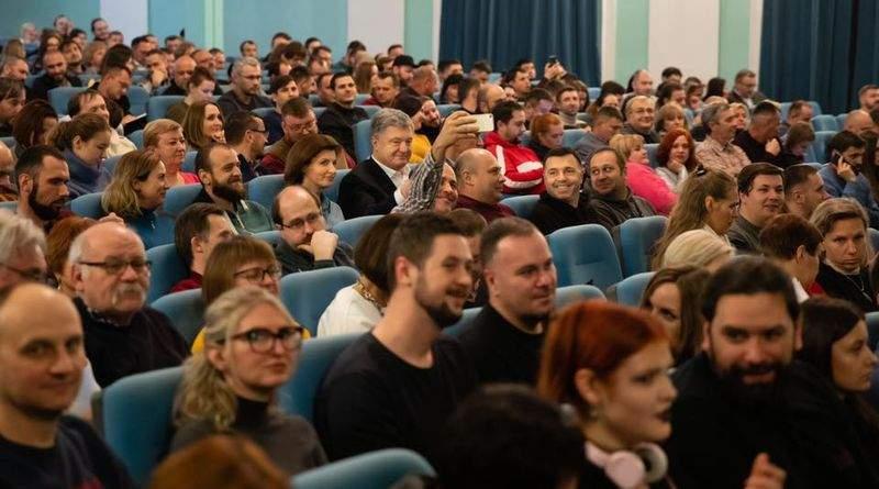 Петро Порошенко відвідав «Епічні п'єси у виконанні автора» Леся Подерв'янського (фото, відео)