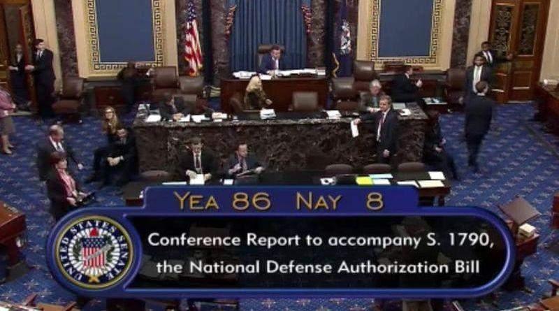 Сенат США щойно підтримав законопроект, яким затверджується оборонний бюджет США на 2020 рік (NDAA)