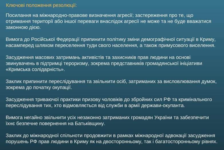 Генасамблея ООН ухвалила українську резолюцію про захист прав людини в Криму в умовах російської окупації