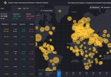 У РНБО створили онлайн-карту поширення коронавірусу в Україні та світі