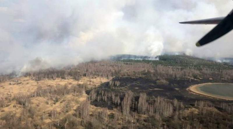 Триває ліквідація лісової пожежі у Зоні відчуження (станом на 20:00)