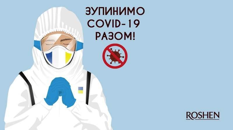 80 млн гривень Roshen вже витратив на боротьбу з пандемією COVID-19