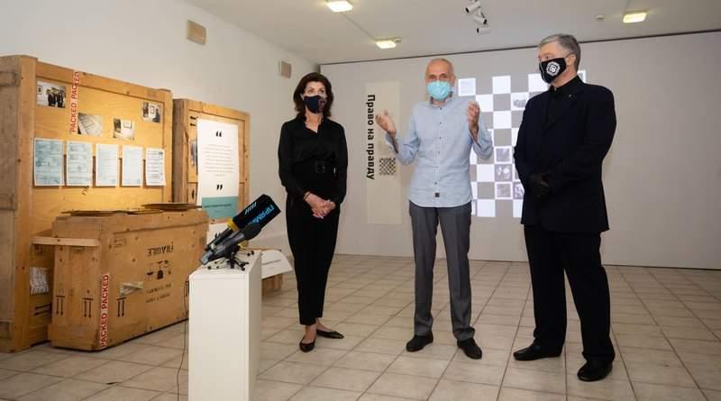 Мистецтво з-за ґрат: у музеї Гончара відкрилась виставка картин із колекції Порошенків (фото, відео)