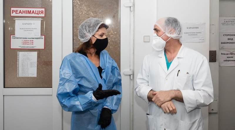 Марина Порошенко відвідала Володимира Балуха у Лікарні швидкої допомоги