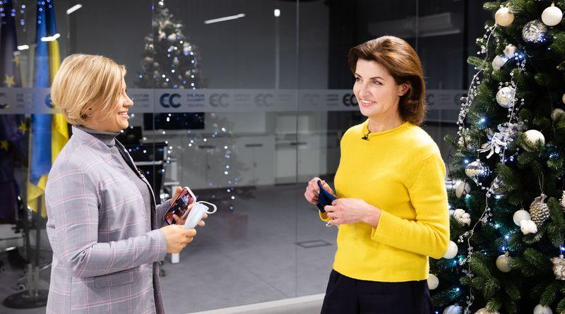 Марина Порошенко в ефірі програми «Люди великого міста» на телеканалі Kyiv.Live 08.01.2021 (відео)